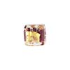 Ruby Gold, Silver Aventurina Luna Cube 10mm, Venetian Glass Bead