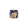 Blue Inchiostro Gold, Silver Aventurina Luna Cube 10mm, Venetian Glass Bead