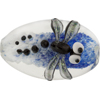 Blue Borosilicate Lampwork Dragonfly Bead