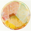 Murano Glass Bead Multi Rose, Green Disc 37mm Machiavelli Line