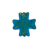 Gold Foil Cross Venetian Bead Aqua, Murano Glass Bead