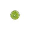 Millefiori Venetian Bead, 10mm Coin, Green Lace