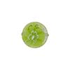 Millefiori Venetian Bead, 12mm Coin, Green Lace