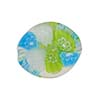 Millefiori Twist Venetian Bead, 20mm, Green, White, Aqua