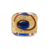 Miro Square 18mm Gold Foil Cobalt Dot