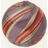 Murano Glass Bead Viola Rubino Missoni Disc 21mm