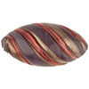 Murano Glass Bead Viola, Rubino Large Missoni Oval 34mm