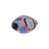 Blue Rubino Black Silver Missoni Sasso 18mm Murano Glass Bead