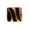 Murano Glass Missoni Stripe Rectangles 18mm Gold Foil Red Black
