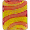 Peridot Rubino 24kt Gold Foil Missoni Rectangles 36x30 Murano Glass Bead
