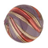 Murano Glass Bead Viola, Rubino Missoni Round 16mm