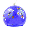 Murano Glass Blue with Millefiori Round Venetian Glass Hanging Lamp