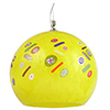 Murano Glass Yellow with Millefiori Round Venetian Glass Hanging Lamp