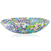 Fused Murano Glass Millefiori Decorative Plate, 13cm Pastel Colors