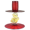 Murano Glass Red Dolphin Candle Holder