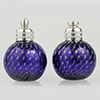 Cobalt Blue Gold Bubbles Murano Glass Salt and Pepper Shaker Set, Authentic Murano Glass
