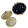 Stars & Moon Pillbox Oval Murano Millefiori Glass