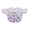 Pastel Pink and Blue Millefiori Murano Glass Mouth Blown Bowl