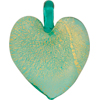Marino 24kt Gold Foil Flat Heart Pendant 30mm Murano Glass