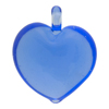 Blue Venetian Transparent Heart Pendant 30mm