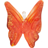 Orange Gold Foil Butterfly Pendants 2 Inch Lampwork Murano Glass