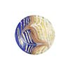 Cobalt White Filigrana Fenicio Gold Foil Disc 17mm Murano Glass