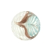 Aqua White Filigrana Fenicio White  Gold Foil Disc 17mm Murano Glass