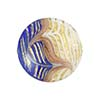 Cobalt White Filigrana Fenicio Gold Foil Disc 20mm Murano Glass