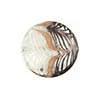Black White Filigrana Fenicio White  Gold Foil Disc 20mm Murano Glass
