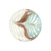 Aqua White Filigrana Fenicio White  Gold Foil Disc 20mm Murano Glass