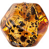 Topaz Black Gold Foil Murano Glass Pebble Bead 15mm