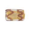Gold Foil Rectangle 22mm Light Amethyst, Murano Glass Bead