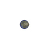 Blue 6mm Gold Foil Round Venetian Glass Bead