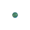 Light Aqua 6mm Gold Foil Round Venetian Glass Bead