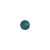 Aqua 6mm Gold Foil Round Venetian Glass Bead