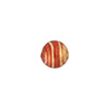 Rubino Pink Stripe 8mm Gold Foil Round Venetian Glass Bead