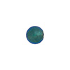 Aqua 8mm Gold Foil Round Murano Glass Bead