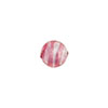 Rubino, Pink Striped Silver Foil 8mm Round Murano Glass Bead