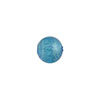 Light Aqua Silver Foil 8mm Round Murano Glass Bead