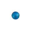 Aqua Silver Foil 8mm Round Murano Glass Bead