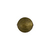 Acciaio (Steel) 10mm Gold Foil Round, Murano Glass Bead