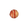 Rubino Stripe 10mm Gold Foil Round, Murano Glass Bead