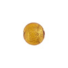Light Topaz 10mm Gold Foil Round, Murano Glass Bead