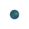 Aqua 10mm Gold Foil Round, Murano Glass Bead