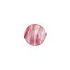Rubino Pink Striped Silver Foil 10mm Round Murano Glass Bead