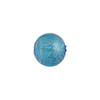 Light Aqua Silver Foil 10mm Round Murano Glass Bead