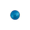 Murano Glass Bead, Aqua .925 Sterling Silver Foil 10mm Round