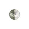 Bi-Color Silver Foil Murano Glass Bead, Grey & Crystal, 12mm, Round