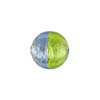 Bi-Color Silver Foil Murano Glass Bead, Light Blue & Peridot, 12mm, Round