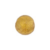 Gaggia (Amber) 12mm 24kt Gold Foil Round, Murano Glass Bead